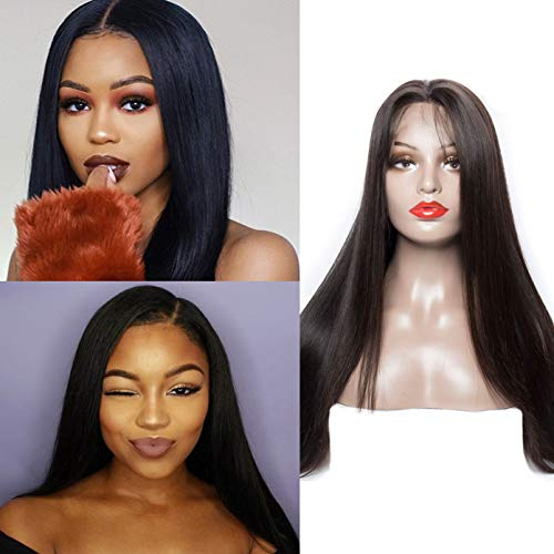 Volvetwig 360 Lace Frontal Wig Echte Haare Perücke Kurz Free Part Swiss Lace Grad 7A Brasilianisch Haare Perücke Gerade 100% Remy mit Baby Hair 10 zoll/ 25 cm