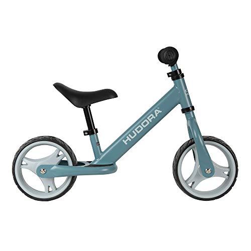 HUDORA Laufrad Youngster, blau | Kinder Laufrad ab 2 Jahre | Lauflernrad mit extra großen Reifen | Sattel & Lenker höhenverstellbar | Kinderlaufrad