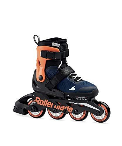 Rollerblade MICROBLADE Schlittschuhe blau Jugend Unisex Midnight Blue/Warm Orange, 230