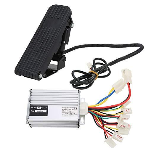 Keenso Controller per spazzole, Controller per spazzole 48V 1000W con Kit pedaliera per Triciclo Elettrico per Bicicletta