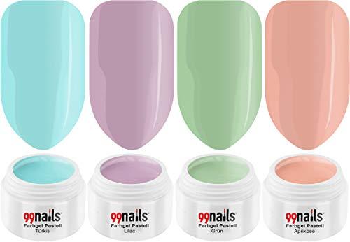 'Nails UV farbgel Set – Sweet Pastel 4er Pack (4 x 5 ml) gelnägel Set farbgel UV Set Made in Germany