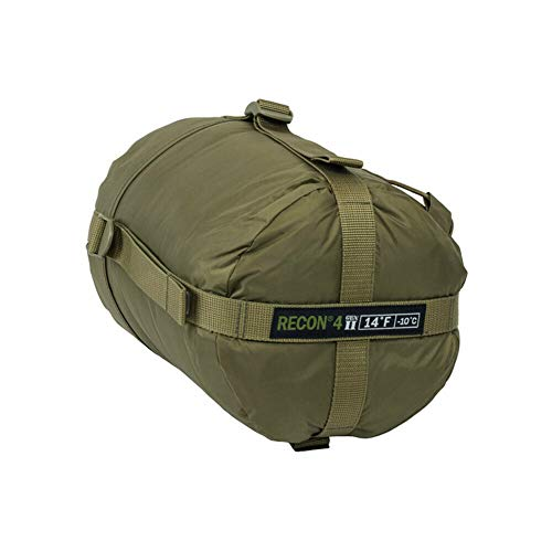 Elite Survival Systems ELSRECON4-T Recon 4 Rated to 14 Degree Fahrenheit Sleeping Bag, Coyote Tan