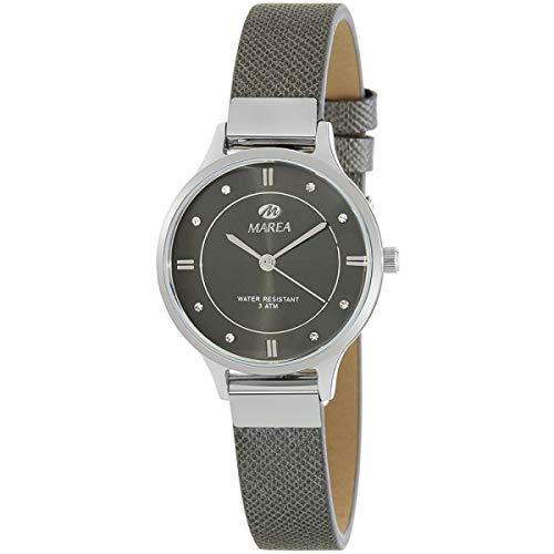 Marea B54139/4 Reloj para Mujer con Correa Gris y Pantalla en Negro