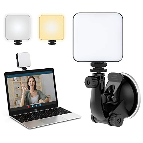 FDKOBE Video Conference Lighting Kit, Webcam Lighting for Remote Working/Zoom Calls, Zoom Lighting/Live Streaming, Self Broadcasting, for Laptop/Computer with Upgrade Suction Cup (cv64)
