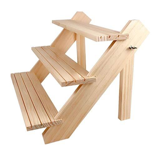 Estante de exhibición de joyería al por menor de madera, soporte de exhibición de mercancía pequeña de encimera para aretes, anillo, broche, collar, pulsera, etc.