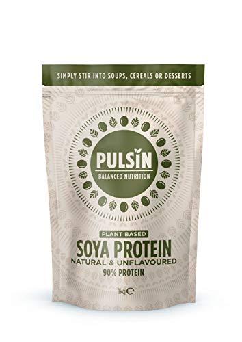 Pulsin,Unflavoured Soya Protein Powder | 90% Protein| Natural | Gluten Free | Vegan SI, 1 kg