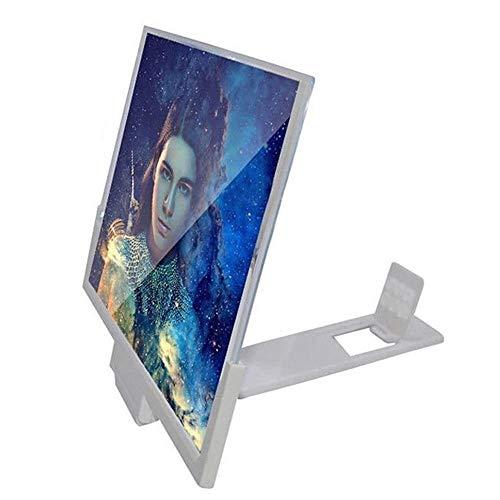 BJZP Lupa de Pantalla 3D Teléfono móvil Pantalla Lupa Antirradiación Amplificador de Pantalla Soporte Plegable de 14 Pulgadas Smartphone Lupa para Todos los Smartphones, iPhone, Samsung, Sony