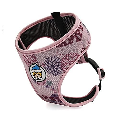 Yoommd Arnés de malla transpirable para mascotas, fácil de poner y quitar, para caminar o hacer ejercicio, arnés ajustable para mascotas con bonito patrón para perros pequeños y gatos