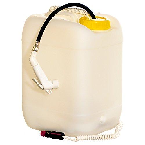 wellenshop Campingdusche mit 12 Volt Pumpe 20 Liter Kanister 2 m Schlauch