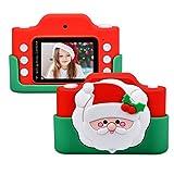 Miavogo WiFi Kinderkamera mit Dual-Objektiv, Fotokamera für Kinder 24 Megapixel 2 Zoll Display HD 1080p Niedlich Digitalkamera für Junge Mädchen (Weihnachtsmann)