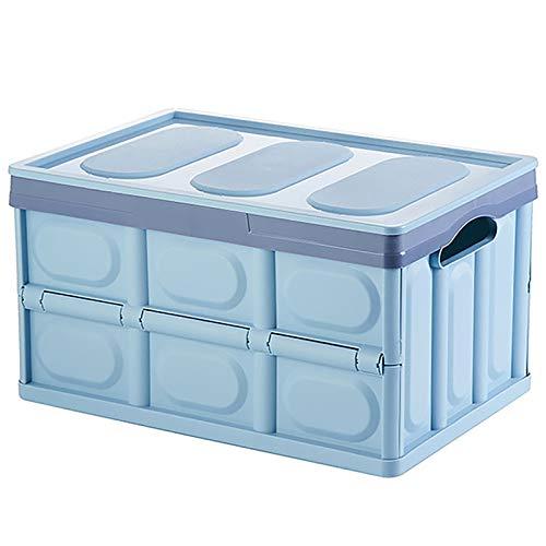 SUHETI Caja De Almacenamiento Plegable, Almacenamiento De Gran Capacidad, Caja De Almacenamiento, Caja De Almacenamiento Portátil De Plástico, Utilizada para El Hogar, Maletero del Coche,Azul