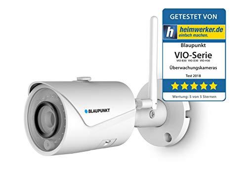 Blaupunkt Outdoor-Überwachungskamera VIO-B30 I Full HD Sicherheitskamera für Außen I Über 1080P I LAN & WLAN Netzwerkkamera I IP-Überwachungskamera I Wasserdicht
