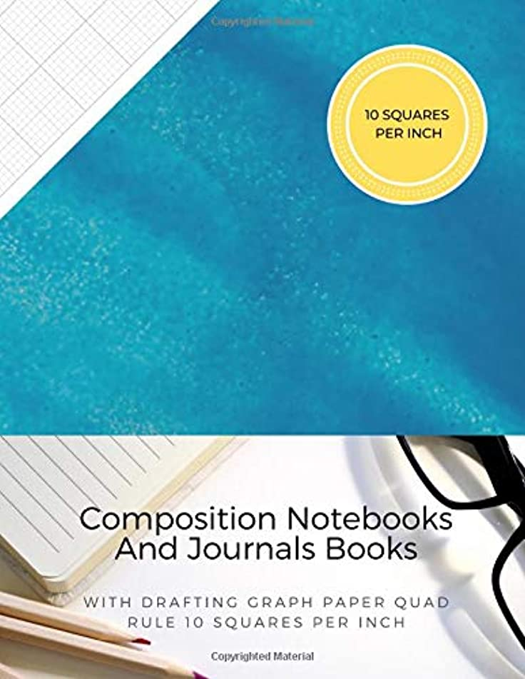 Composition Notebooks And Journals Books With Drafting Graph Paper Quad Rule ( 10 Squares Per Inch ): Graphing Notebook Journal Book College Ruled Square Grid Minimalist Art Numbered Pages Volume 55