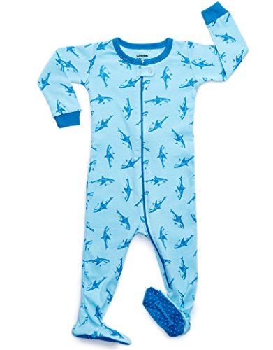 Leveret Kids Sharks Baby Boys Footed Pajamas Sleeper 100% Cotton (Size 12-18 Months)
