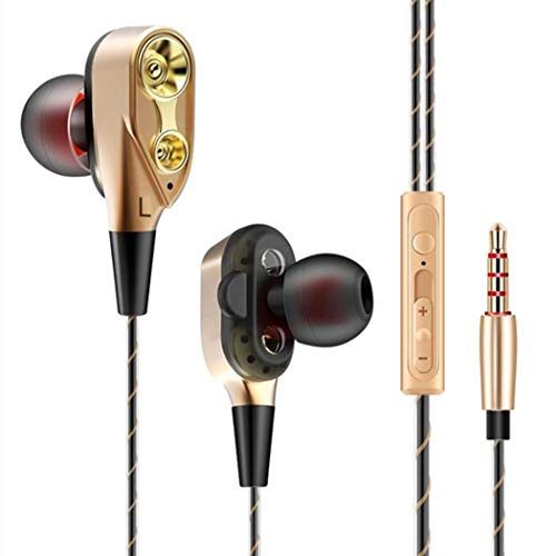 yagaiu In-Ear Headset Doble de Moving Disco de Coil manejada con cable...