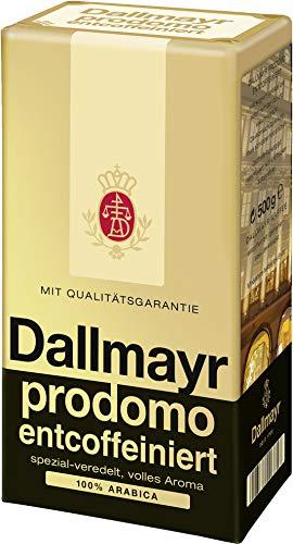 Kaffee prodomo entcoffeiniert gemahlen, Dallmayr prodomo entkoffeiniert