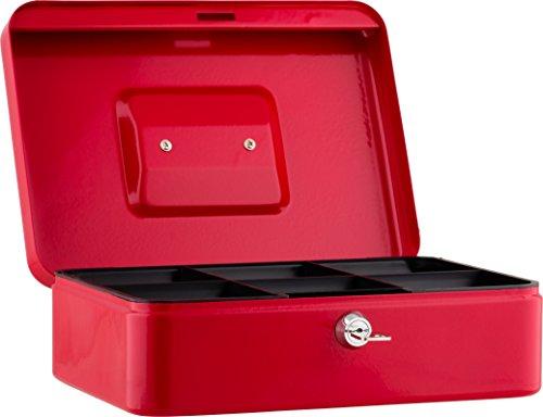 Sax 0-813-03 Geldkassette, B 30 x H 9 x T 24 cm, rot