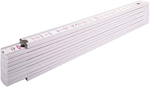 STABILA Holz-Gliedermaßstab Type 1407, 2 m, weiß, metrische Skala