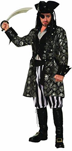 Forum Men's Captain Sterling Blackskull Adult Costume, as Shown, Standard