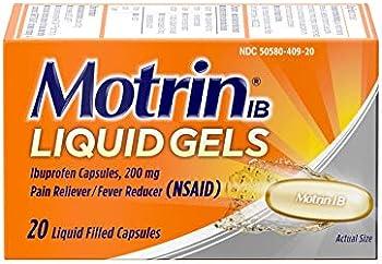 20-Count Motrin IB Liquid Gels 200mg Ibuprofen Capsules