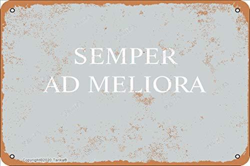 Semper Ad Meliora Hierro 20 x 30 cm, aspecto vintage, decoración de manualidades, letrero para hogar, cocina, baño, granja, jardín, garaje, citas inspiradoras, decoración de pared