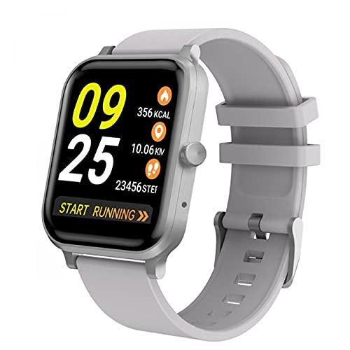 HYK Orologio Intelligente, cardiofrequenzimetro per Uomo e Donna, Orologio Digitale Impermeabile IP68, con contapassi contacalorie del Sonno, Adatto per Android iOS(A)