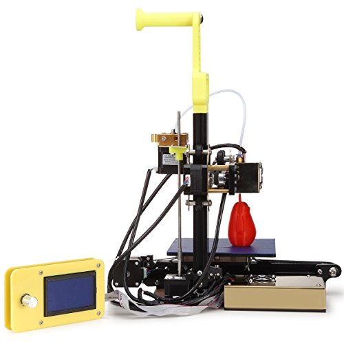 Printer DIY DIY Kit type aluminum frame with 3d printing, large size size and stability of high precision heated bed 12864 screen display (T3, Yellow)
