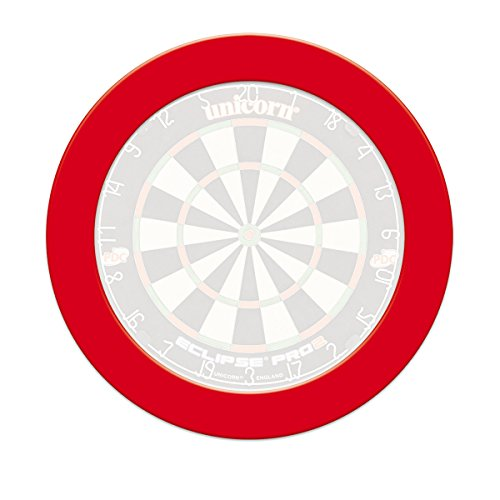 Unicorn Pro Slimline, Dartboard Surround, rot