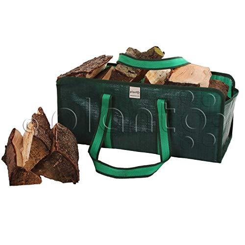 planto Kaminholztasche Selbststehende Tasche für Brennholz, Brennholztasche, Einkaufstasche, reißfestes Starkes Material (1 Stück)