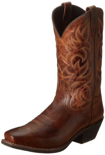 Laredo Mens Breakout Square Toe Western Cowboy Dress Boots Mid Calf - Brown - Size 11 2E