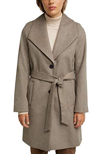 ESPRIT Collection Damen 080EO1G350 Jacke, 264/LIGHT Taupe 5, L