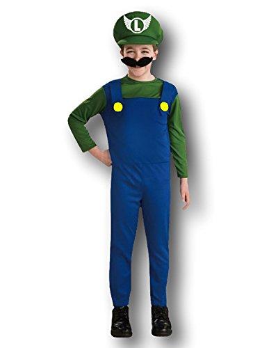 Rubber Johnnies - Disfraz de Luigi para niño, color azul y verde