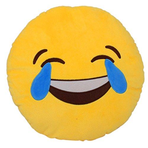 Cuscino Rotondo Emoji Emoticon Morbido Cuscino Farcito Peluche Giocattolo Ridere Fino Alle Lacrime