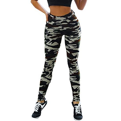 RISTHY Pantalones Camuflaje Lápiz Fitness Pantalones Deportivos Mujer Leggins Push Up Cintura Alta Élastico Pantalones de Deporte Ropa de Entrenamiento Gimnasio Correr Yoga