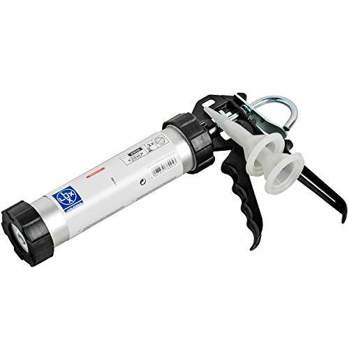 LUX-TOOLS Kartuschenpresse Alu Comfort 310 ml | Zum Füllen von Fugen und Spalten