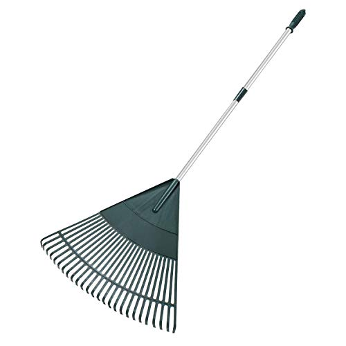 ORIENTOOLS Garden Leaf Rake, Adjustable Lightweight Steel Handle,...