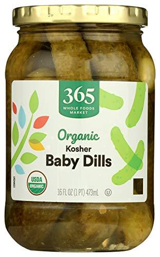 365 Everyday Value, Organic Baby Kosher Dills, 16 fl oz