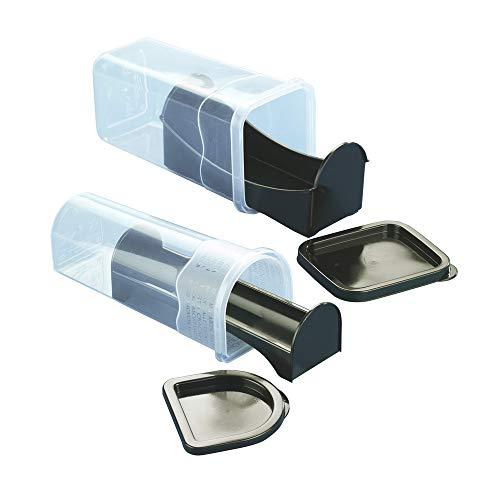 Wenko Aufbewahrungsboxen für Kekse Keksdose, 2-teilig, Polypropylen, transparent, 9,1 x 21,5 cm