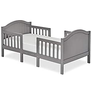 Dream On Me Portland 3 In 1 Convertible Toddler Bed in Steel Grey, Greenguard Gold Certified
