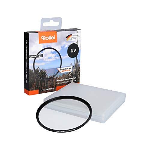 Rollei Premium Rundfilter UV 72 mm - UV Filter und Schutzfilter mit Aluminium-Ring aus Gorilla Glas mit spezieller Beschichtung - Größe: 72 mm