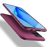 X-level Huawei P40 Lite Hülle, [Guardian Serie] Soft Flex TPU Hülle Superdünn Handyhülle Silikon Bumper Cover Schutz Tasche Schale Schutzhülle für Huawei P40 Lite - Weinrot