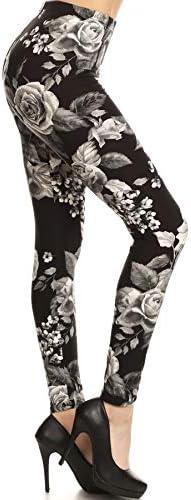 Rose print leggings _image2