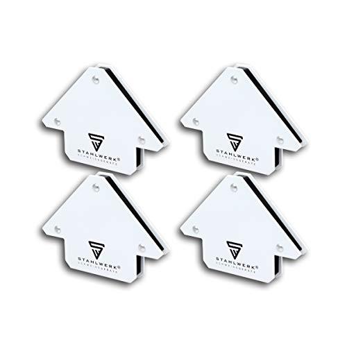 STAHLWERK 4 × Magnet-Schweißwinkel Magnetwinkel Schweißmagnet 45° x 90° x 135°, 11,6 kg / 25 lbs