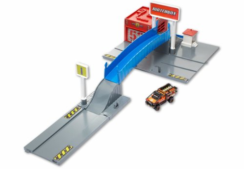 Mattel Matchbox y6093 – Pompiers de Commande Central, Kit de Jeu + 1 Véhicule