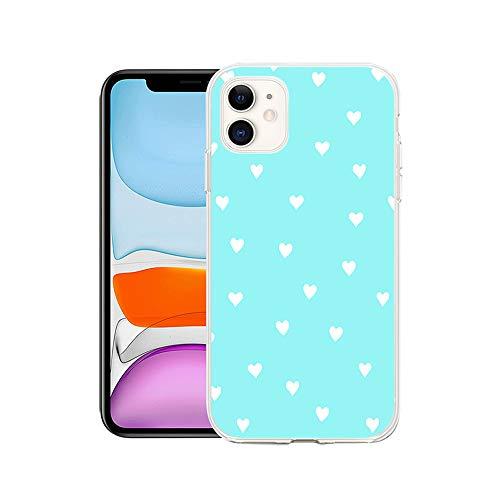 APHT Herz Form Wave Dot Handytasche Schutzhülle Handyhülle Ultra dünn TPU Silikon Handyhülle Bumper Phone case Kompatibel mit iPhone 5-12 pro max