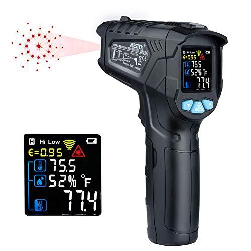 Infrarot Thermometer, Nicht-Kontakt Digital Laser Thermometer, Handheld LCD Bildschirm Einstellbarer Emissions Alarm Temperatur Sonden Sensoren Für Küche Ofen, -50 °C ~ 380 °C/-58 °F ~ 716 °F