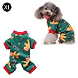 WXGY Dog Pajamas Pet Clothes, Christmas Jumpsuit Clothing T-Shirt Pet Dog Clothes Warm Pajamas Clothing Shirt for Dogs Puppy Normal