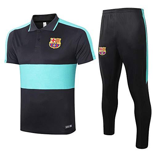zhaojiexiaodian heren voetbal trainingspak korte mouwen Polo pak spel ademende Jersey Sport Leggings