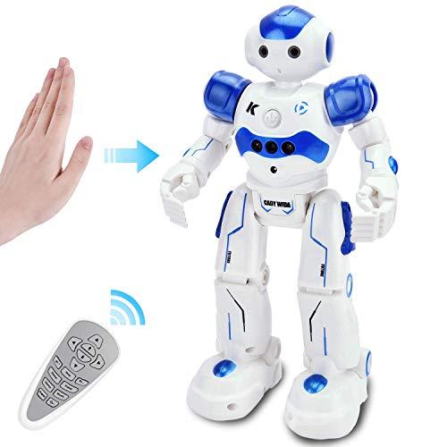 GotechoD Ferngesteuerter Roboter, Intelligenter Fernbedienungsroboter mit dem Handgestenbefehl, Gehen Singen Tanzen für Kinder Jungen Alter 4/5/6/7/8