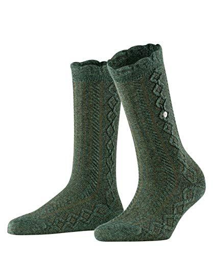 Burlington Damen Cable Boot Socken, grün (hunting green 7273), 36-41